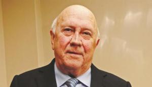 Former South African President FW de Klerk